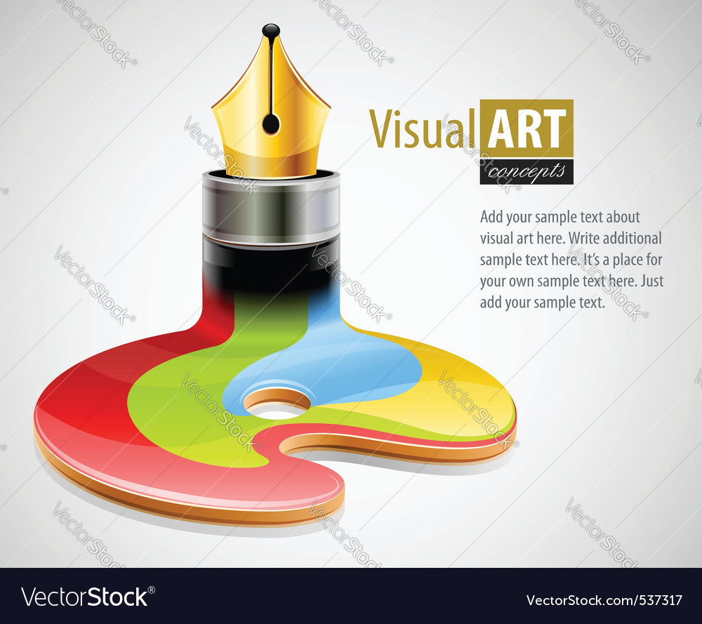Ink pen as symbol of visual vector | Price: 3 Credit (USD $3)