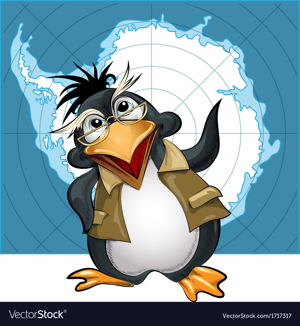 Penguin lecturer vector | Price: 3 Credit (USD $3)