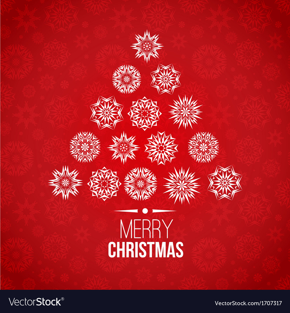 Red and white christmas background vector | Price: 1 Credit (USD $1)