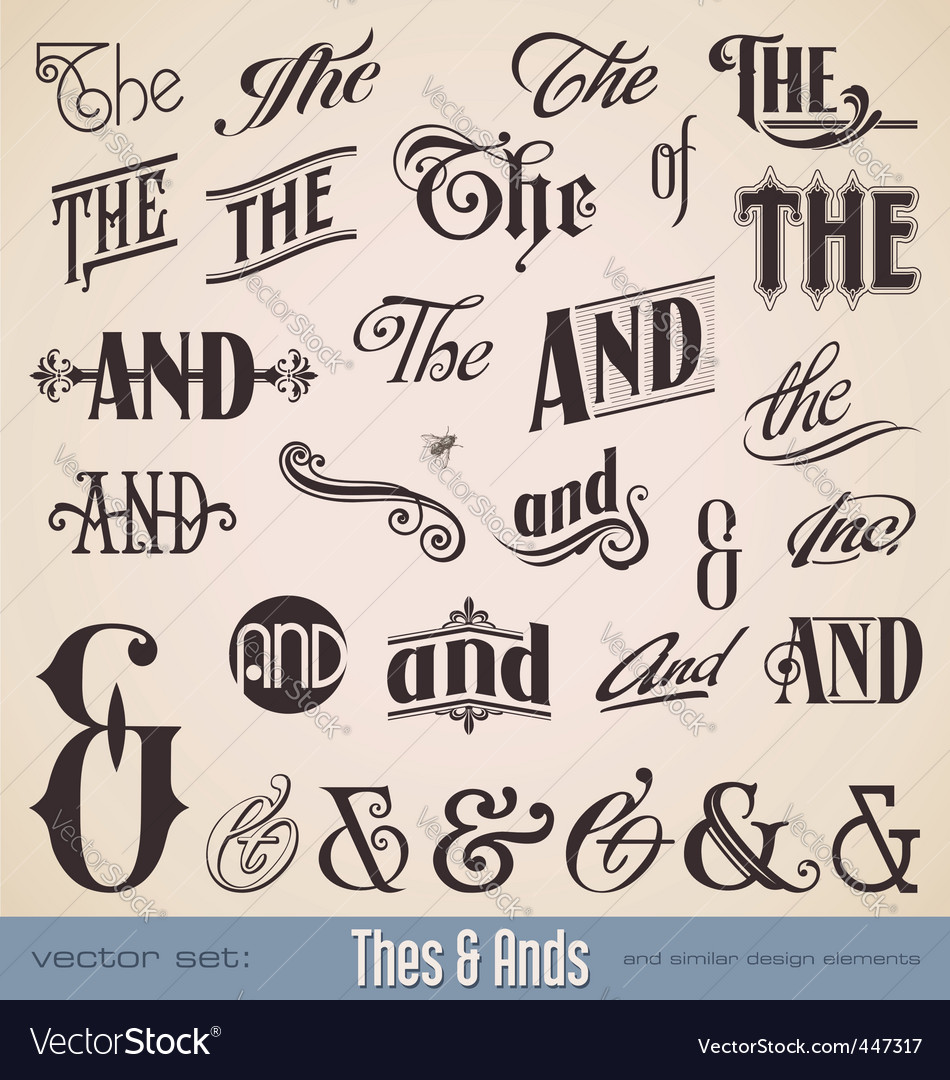 set thes and ands vector | Price: 1 Credit (USD $1)