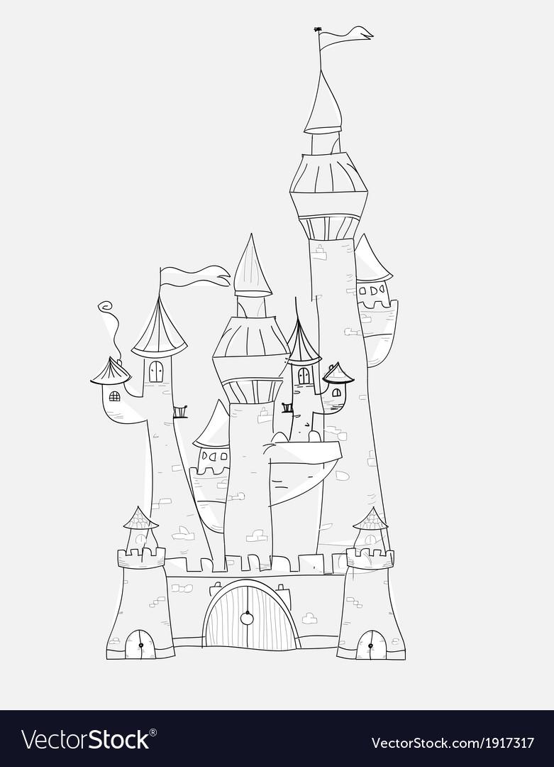 Sketchy castle vector | Price: 1 Credit (USD $1)