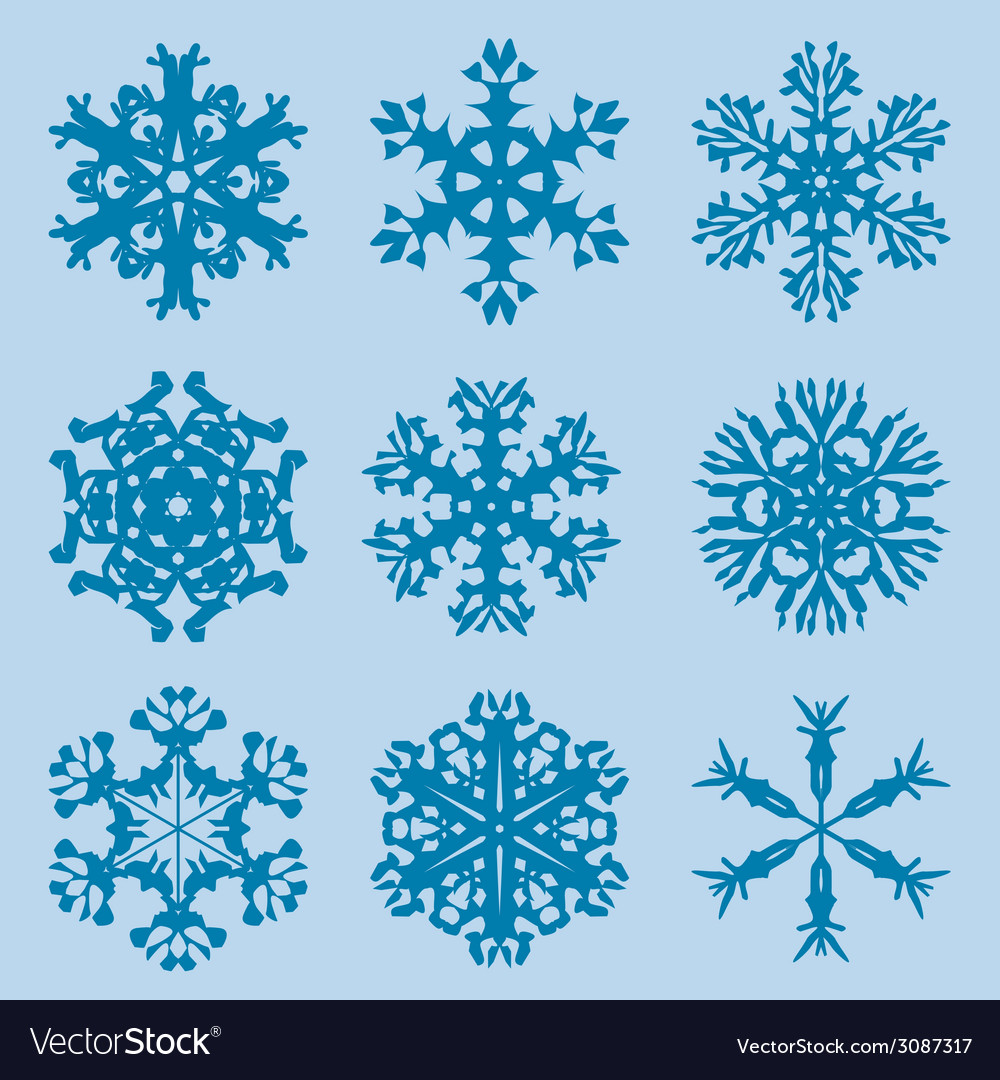 Snowflake icon winter theme winter snowflakes of vector | Price: 1 Credit (USD $1)