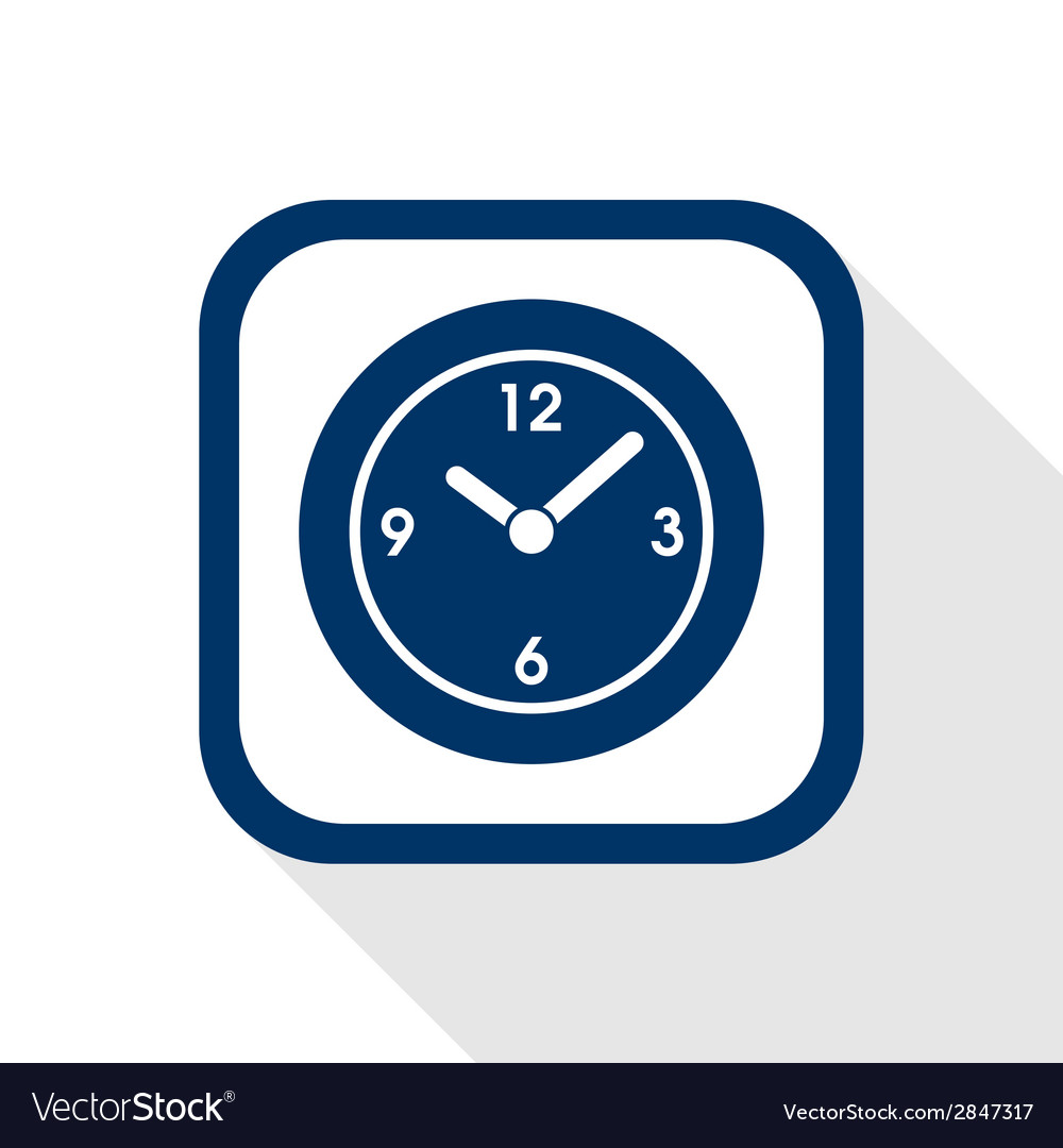 Time flat icon vector | Price: 1 Credit (USD $1)