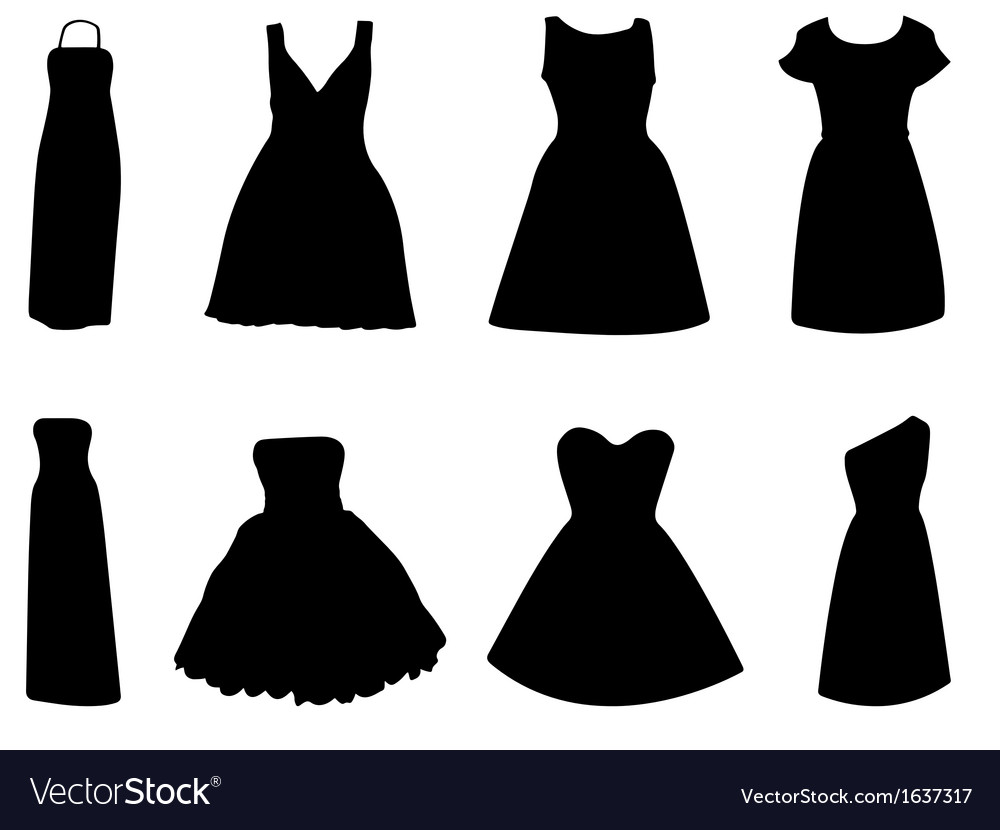 Woman dress vector | Price: 1 Credit (USD $1)