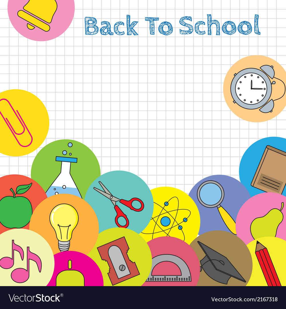 Background school icons vector   Price: 1 Credit (USD $1)