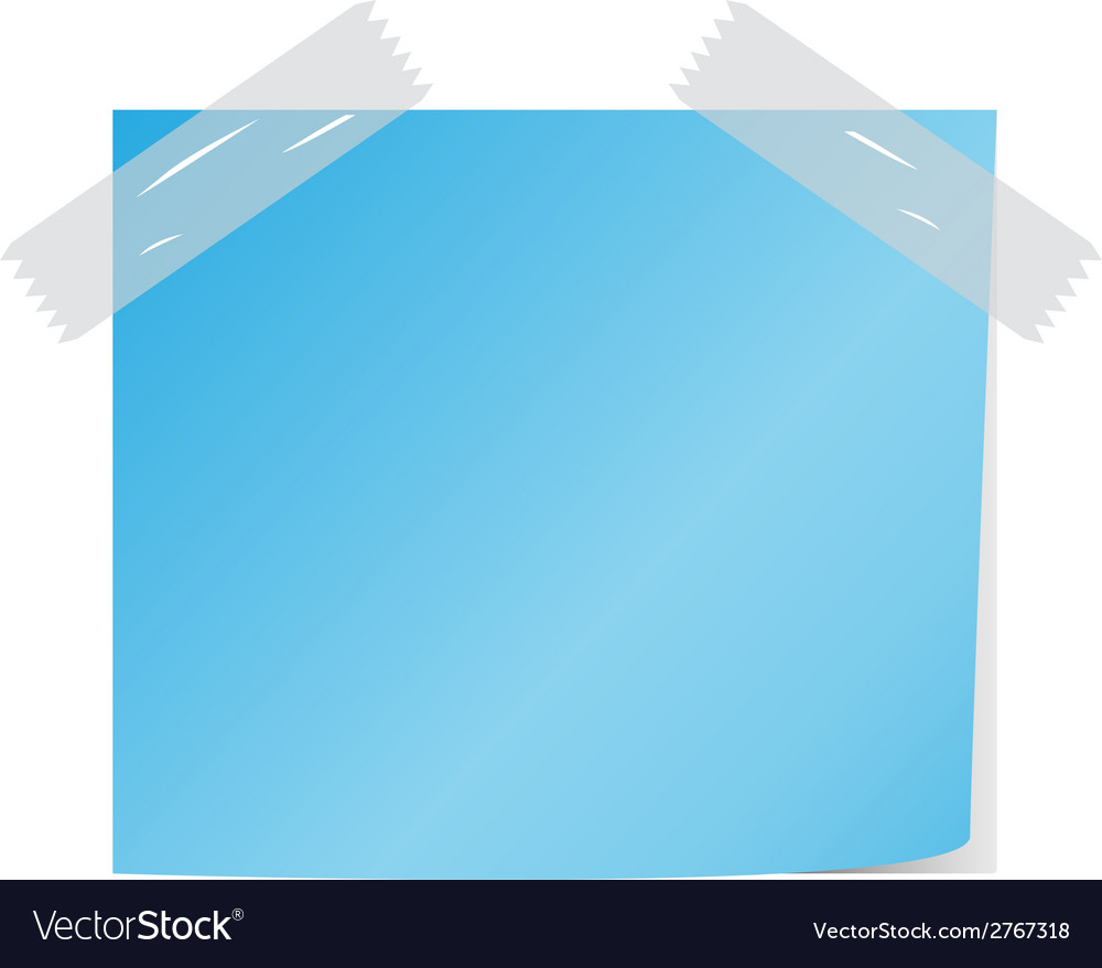 Blue post it vector | Price: 1 Credit (USD $1)
