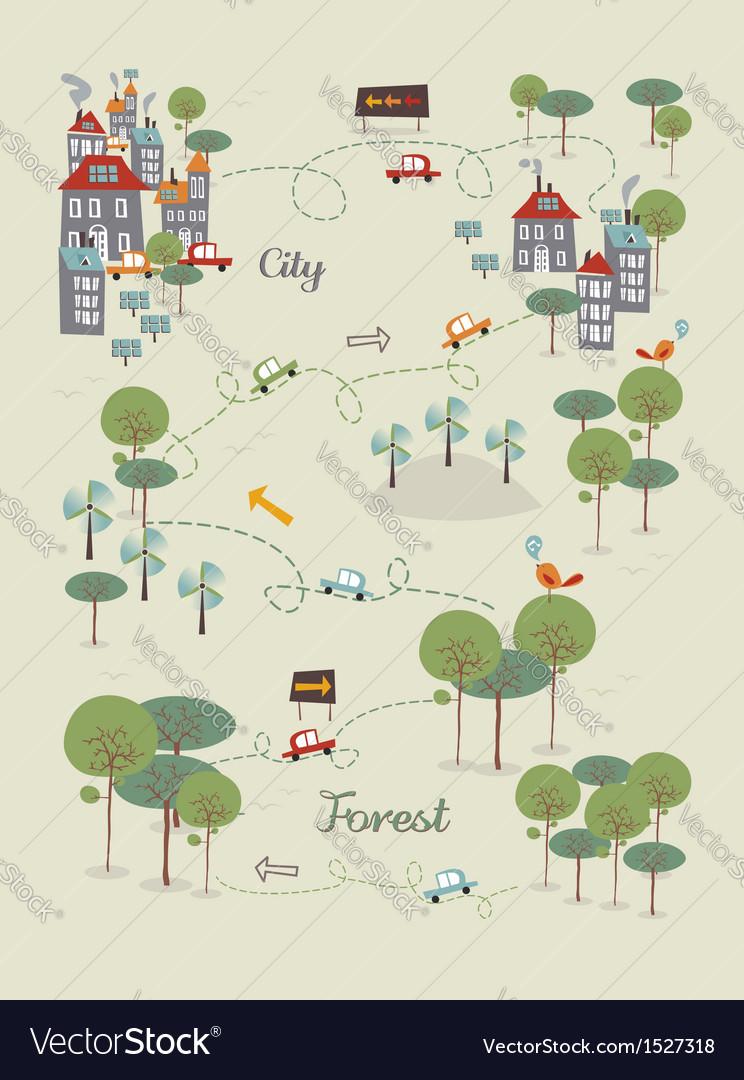 Go green city design vector   Price: 1 Credit (USD $1)