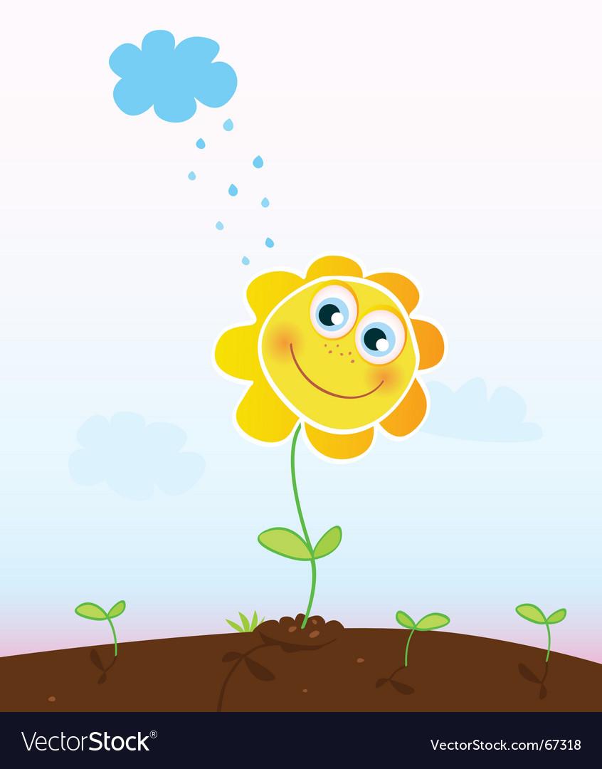 Happy flower vector   Price: 1 Credit (USD $1)