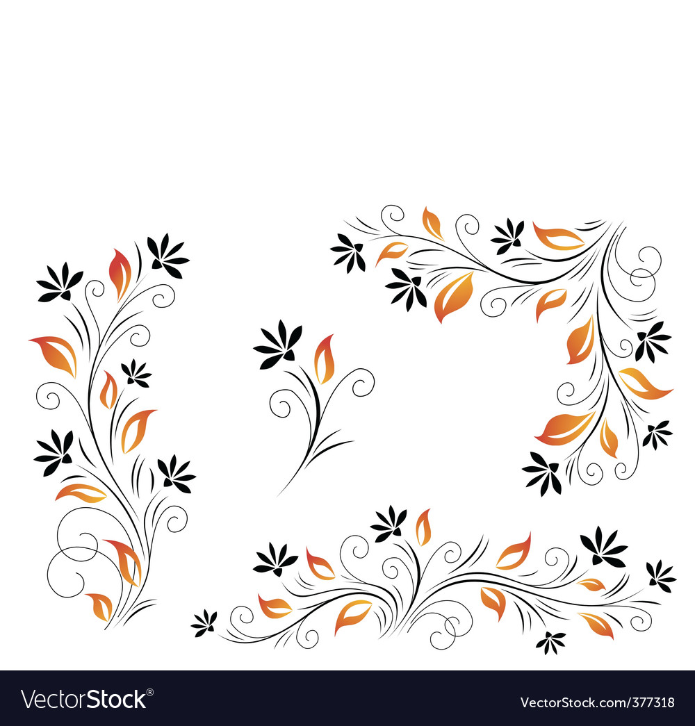 Red leaves vector | Price: 1 Credit (USD $1)