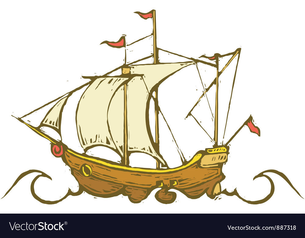 Sailing ship vector | Price: 1 Credit (USD $1)