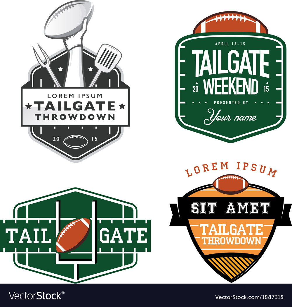 Set of american football tailgate design elements vector | Price: 1 Credit (USD $1)