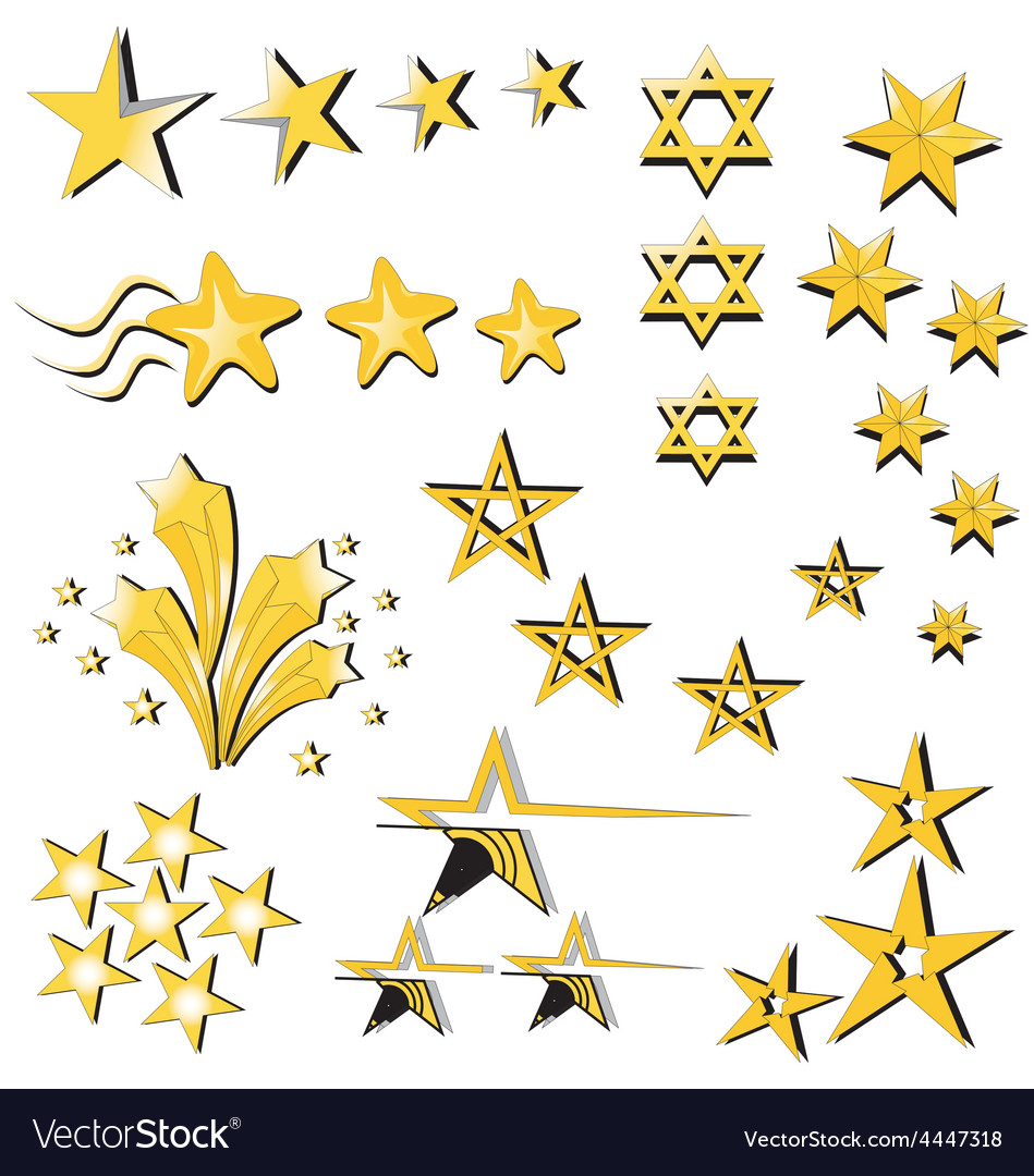 Star collection icon vector