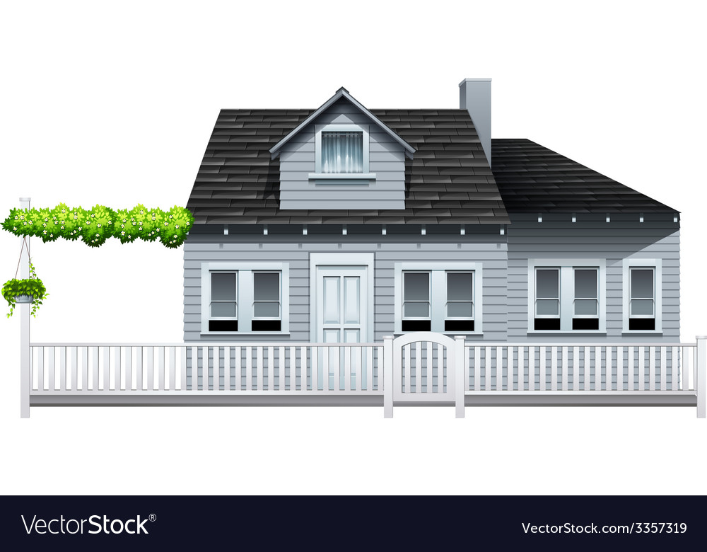 A gated house vector | Price: 1 Credit (USD $1)