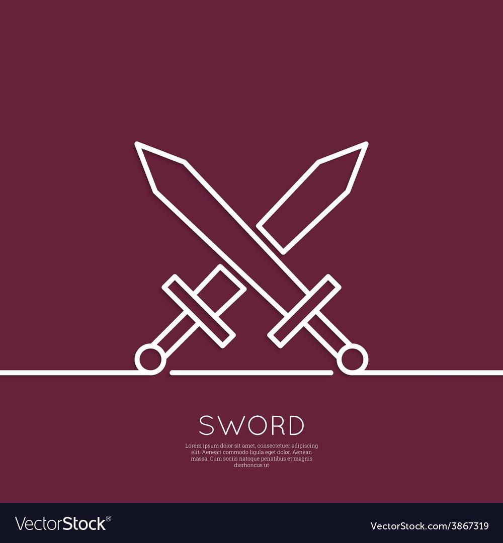 Crossed swords vector | Price: 1 Credit (USD $1)