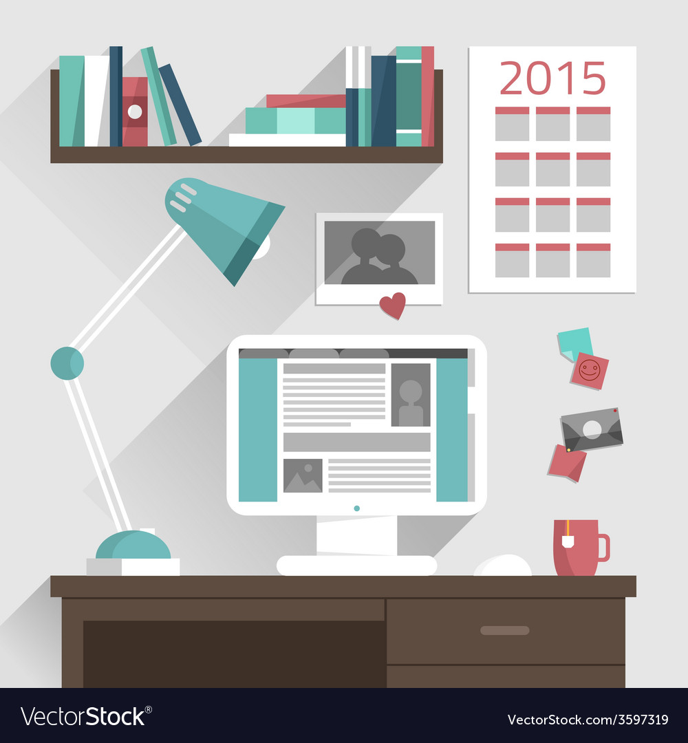 Flat design concept of modern home or busine vector | Price: 3 Credit (USD $3)