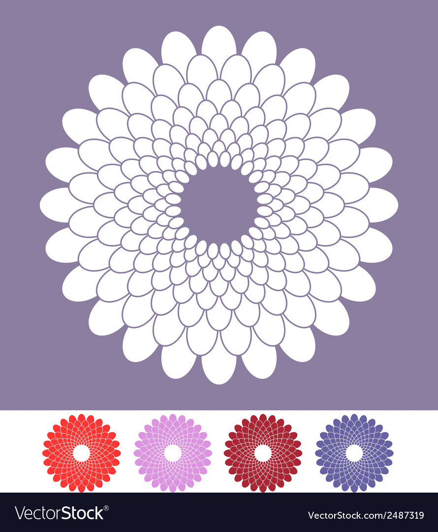 Flower chrysanthemum vector | Price: 1 Credit (USD $1)