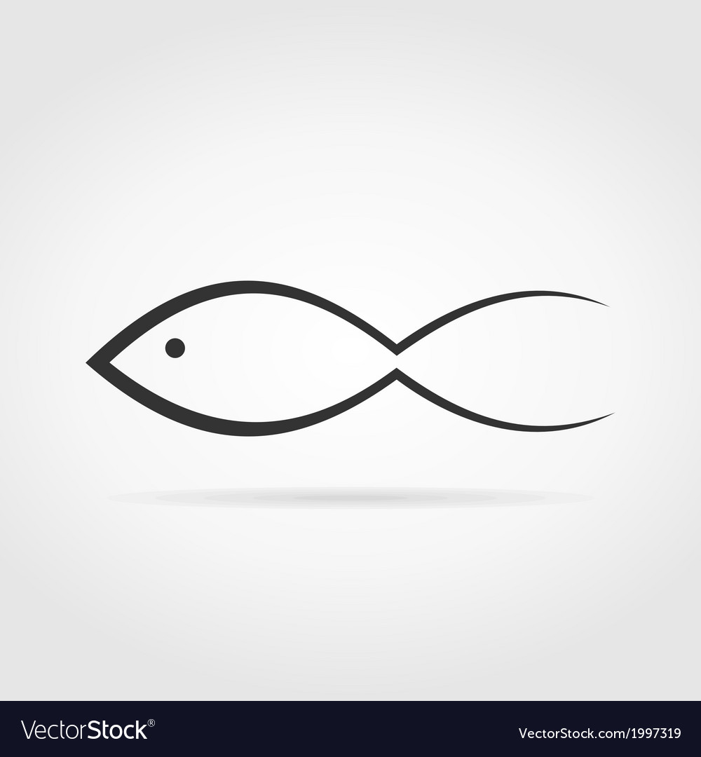 Silhouette fish3 vector | Price: 1 Credit (USD $1)