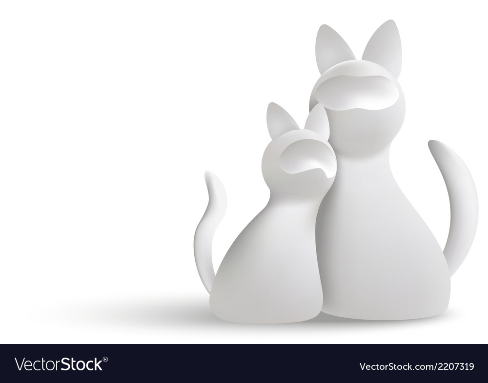 White cats vector | Price: 1 Credit (USD $1)