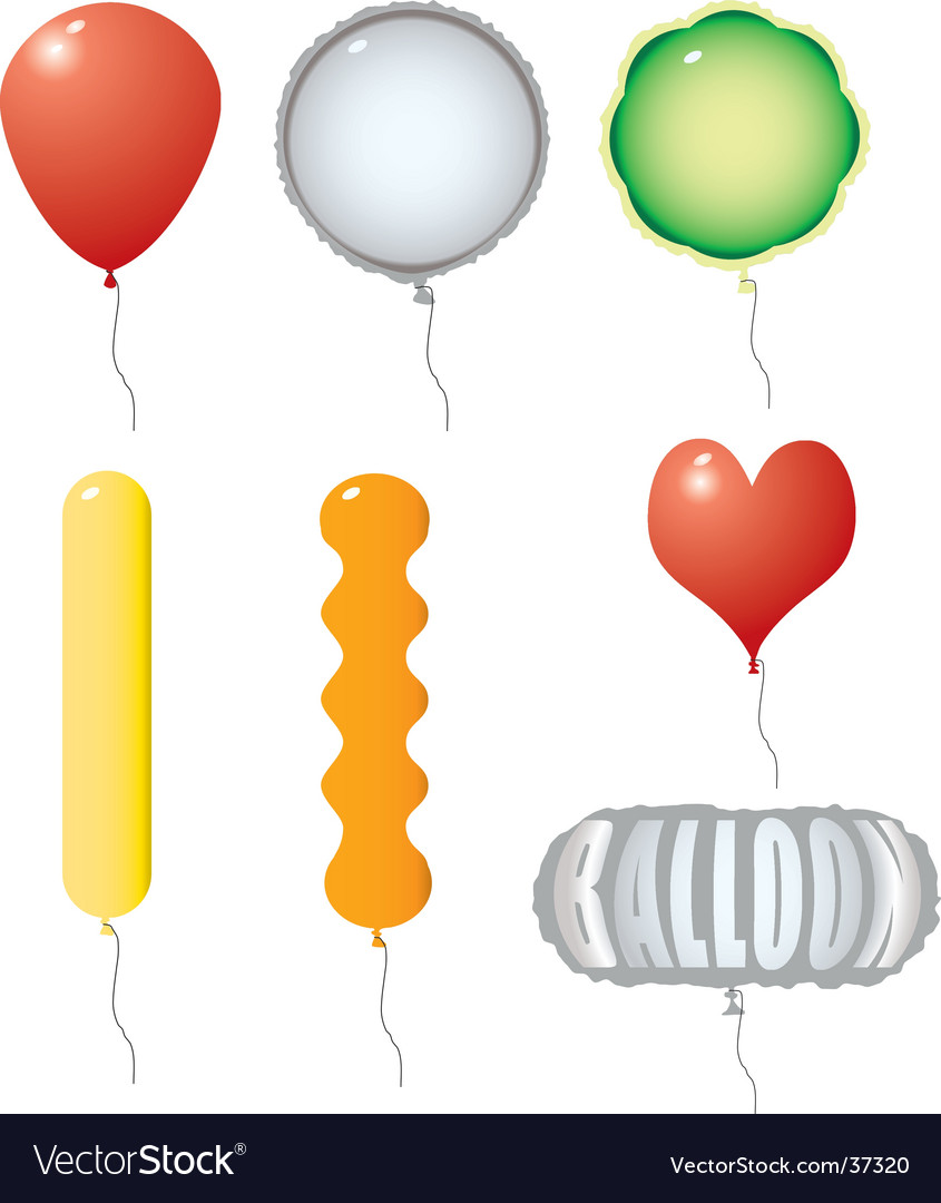 Balloon variation vector | Price: 1 Credit (USD $1)