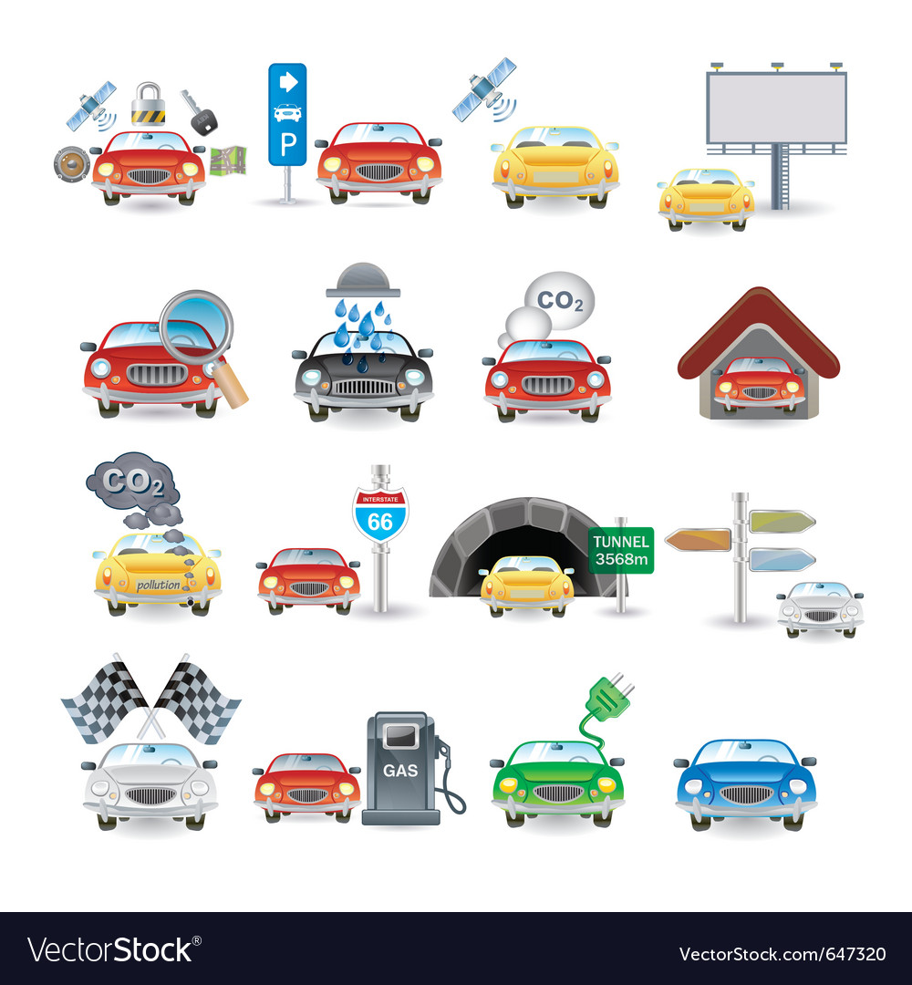 Cars set vector | Price: 1 Credit (USD $1)