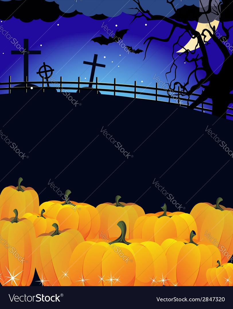 Eerie cemetery landscape vector | Price: 1 Credit (USD $1)