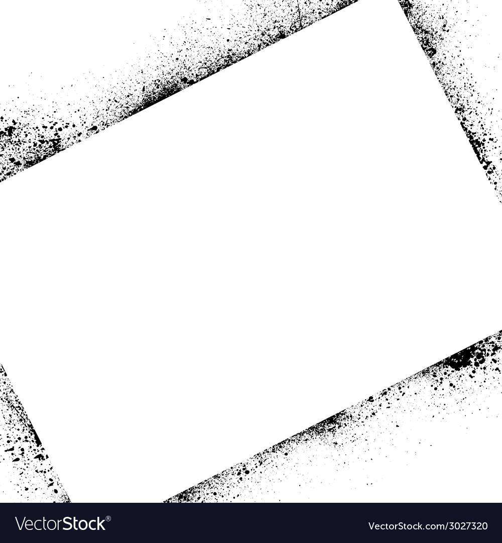 Ink blots frame square vector | Price: 1 Credit (USD $1)