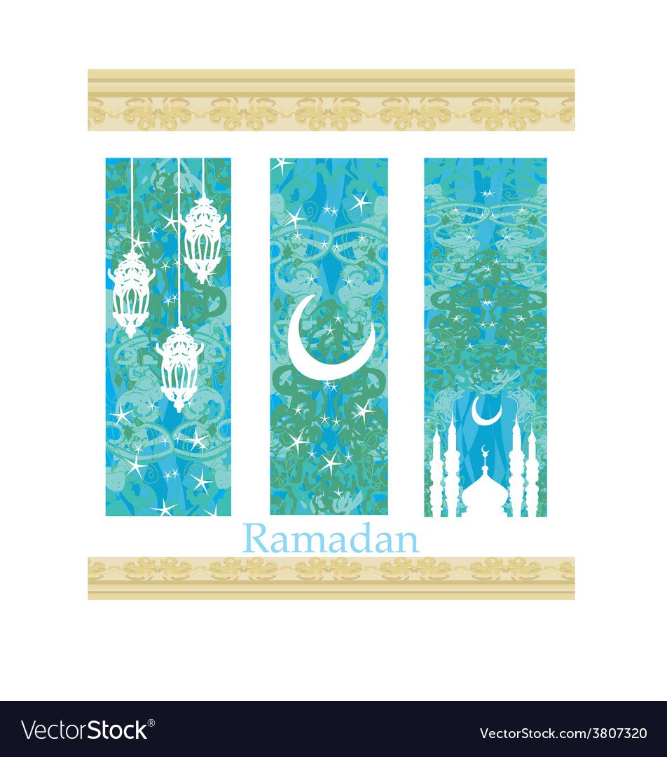 Islamic banners set - ramadan vector | Price: 1 Credit (USD $1)