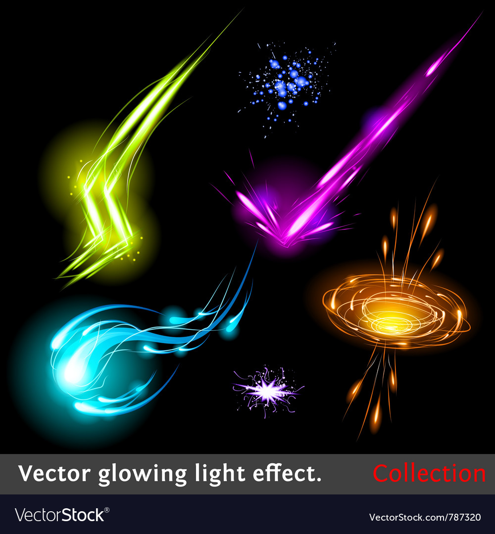 Light effects set vector | Price: 1 Credit (USD $1)
