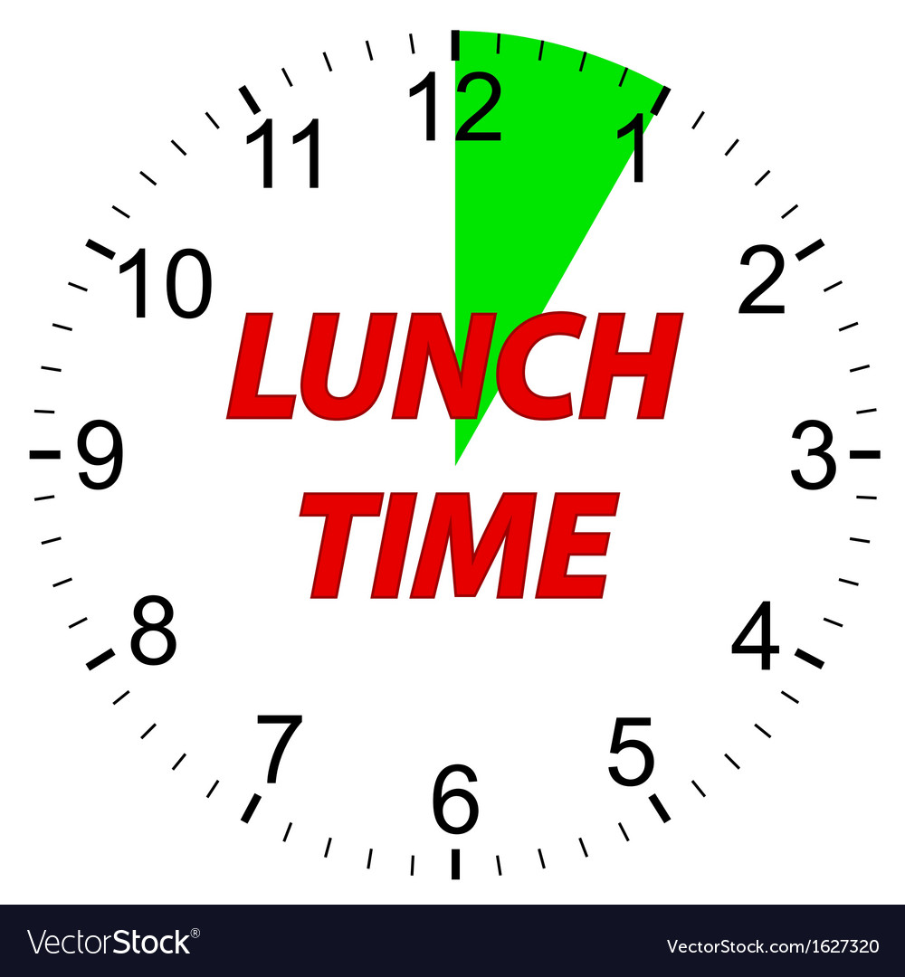 Lunch time clock vector | Price: 1 Credit (USD $1)