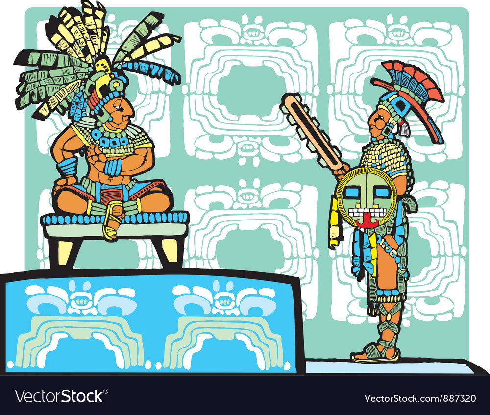 Mayan king and warrior vector | Price: 1 Credit (USD $1)