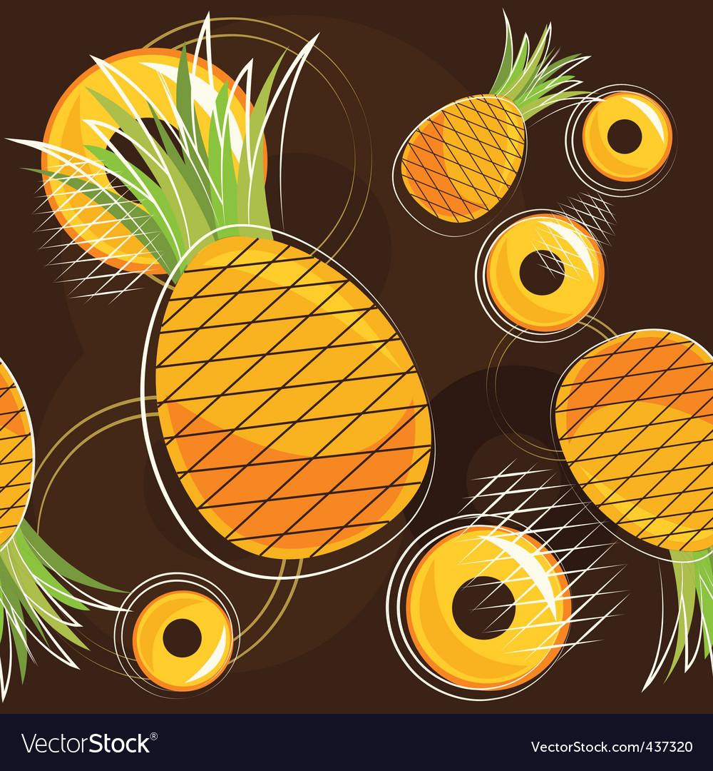 Pineapple pattern vector | Price: 1 Credit (USD $1)