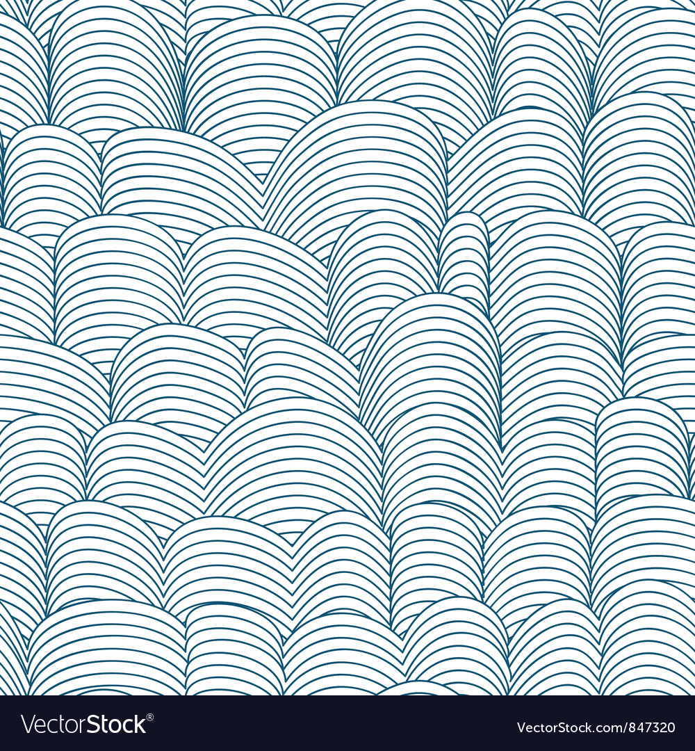 Seamless abstract waves pattern background vector | Price: 1 Credit (USD $1)