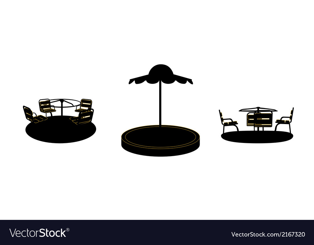 Set of silhouette swing black on white background vector | Price: 1 Credit (USD $1)