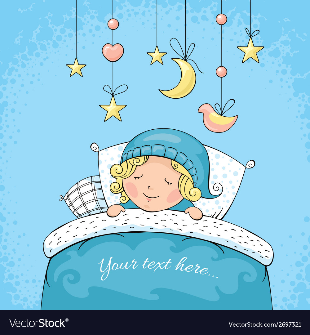 Adorable sleeping child vector | Price: 1 Credit (USD $1)