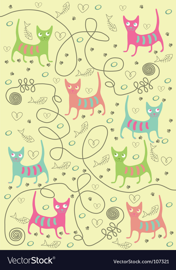 Bright cats vector | Price: 1 Credit (USD $1)