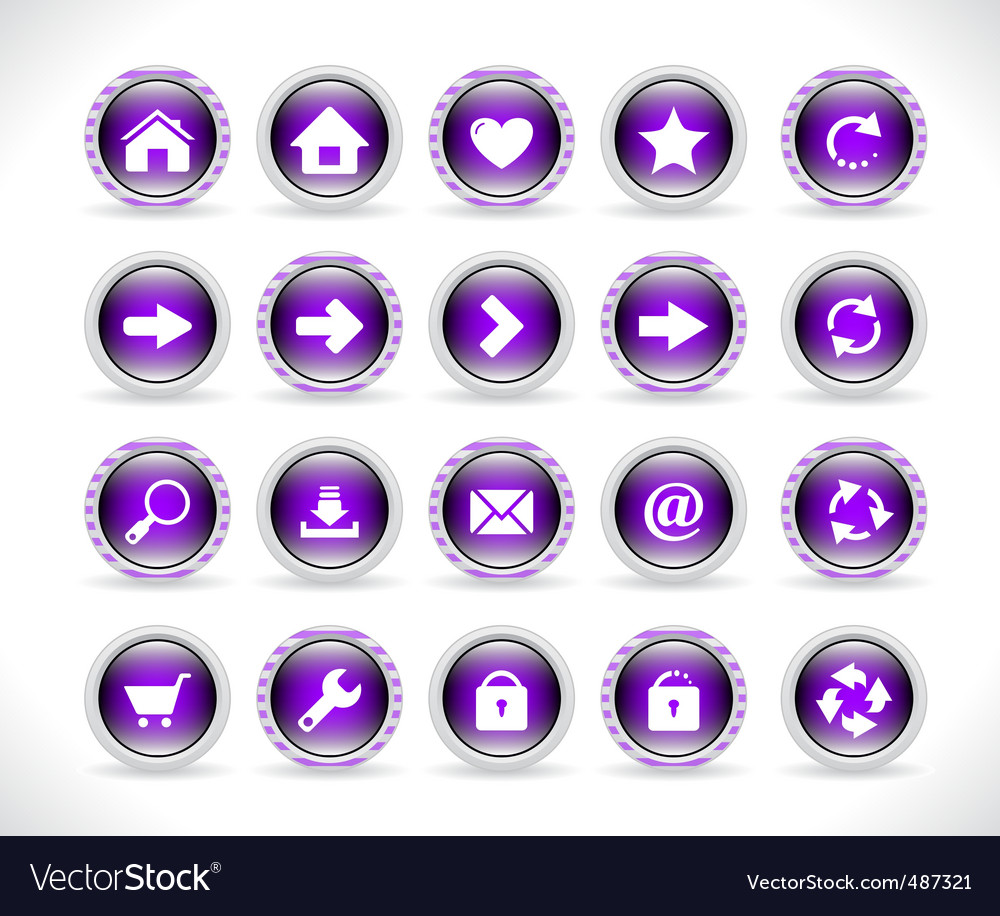 Buttons for web design vector | Price: 1 Credit (USD $1)