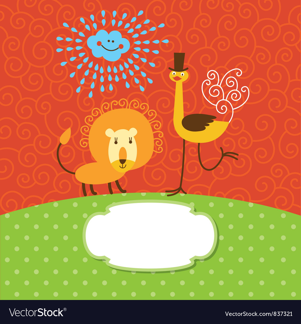 Children greeting card vector | Price: 3 Credit (USD $3)