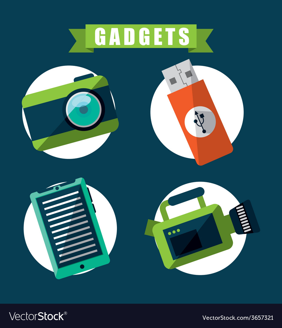 Gadgets tech vector | Price: 1 Credit (USD $1)