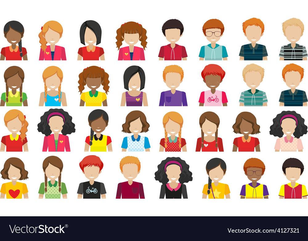 Group of people without faces vector | Price: 3 Credit (USD $3)
