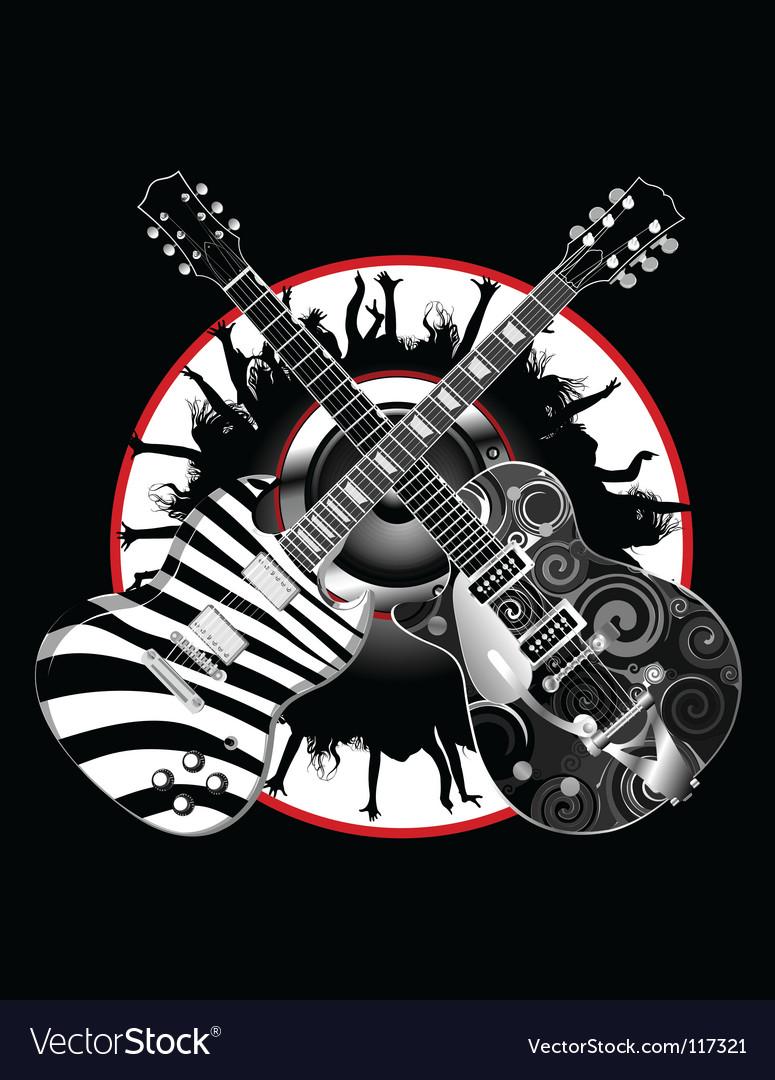 Guitar legends vector | Price: 1 Credit (USD $1)
