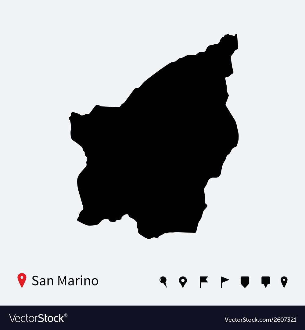 High detailed map of san marino with navigation vector | Price: 1 Credit (USD $1)