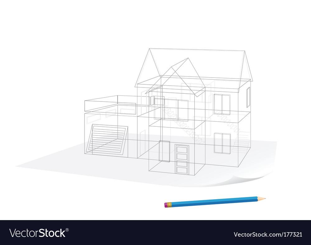 House sketch vector   Price: 1 Credit (USD $1)