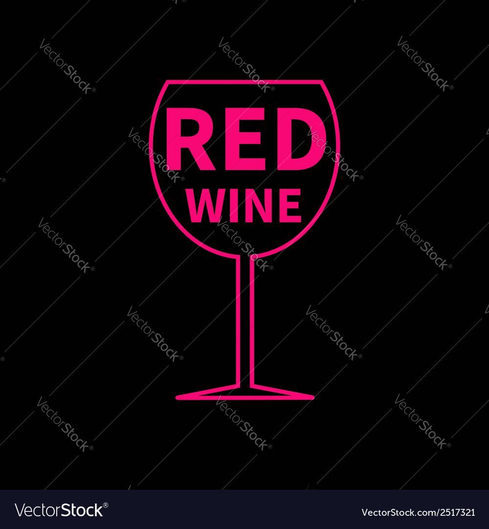 Red wine glass black background vector | Price: 1 Credit (USD $1)