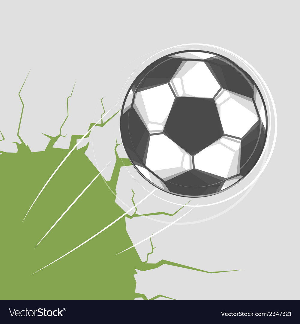 Soccer ball goes through the wall vector | Price: 1 Credit (USD $1)
