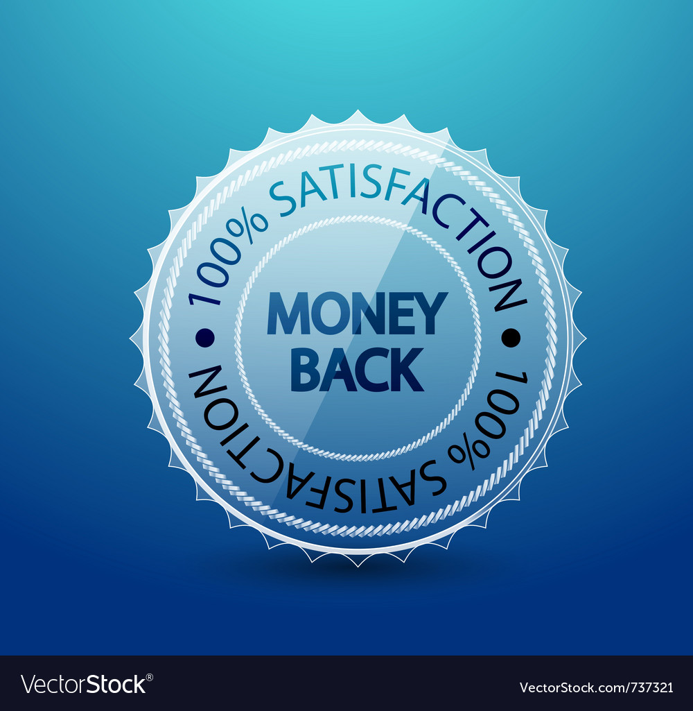 Transparent guarantee label vector | Price: 1 Credit (USD $1)