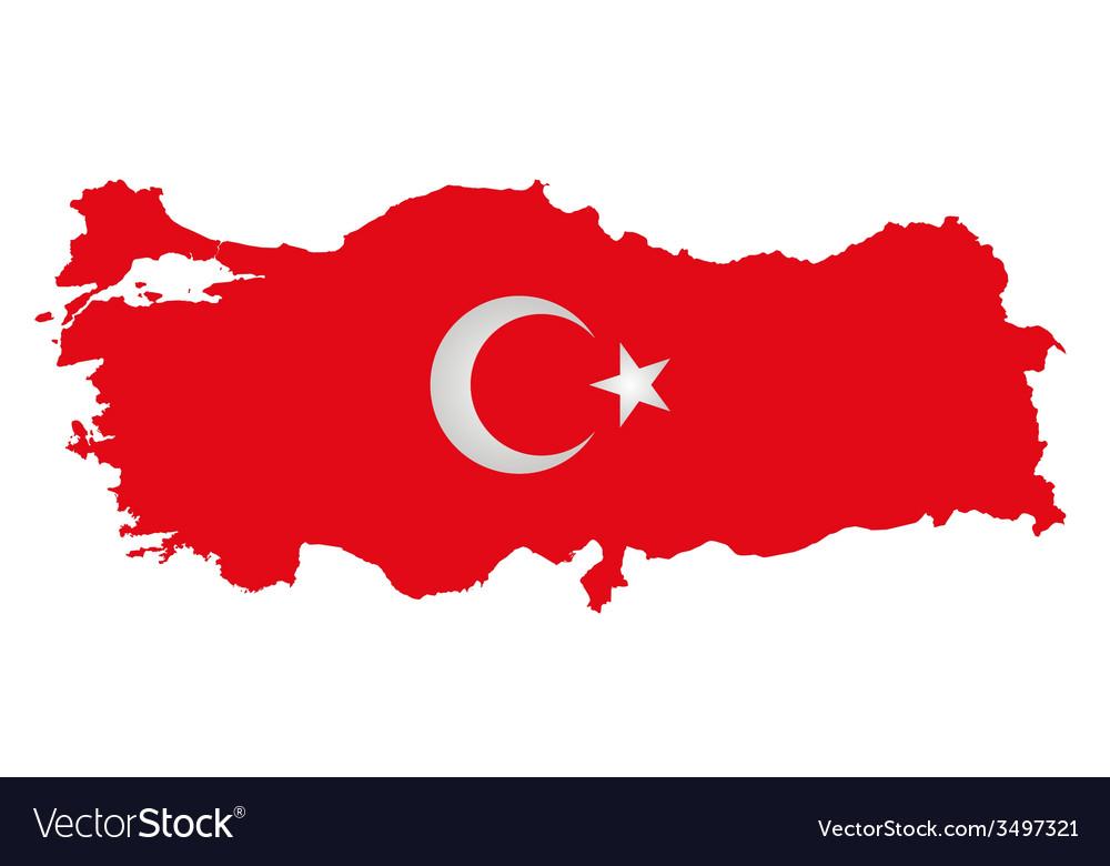 Turkey flag vector | Price: 1 Credit (USD $1)