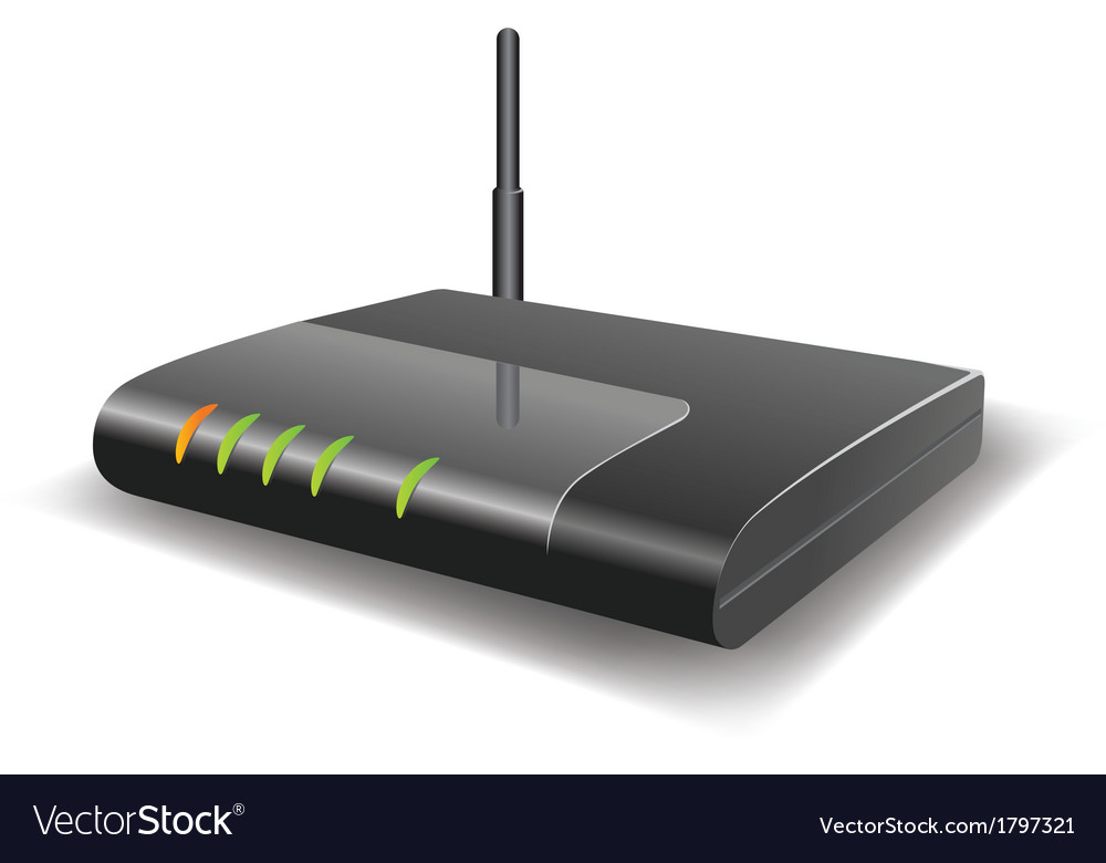 Wireless router with the antenna vector | Price: 1 Credit (USD $1)