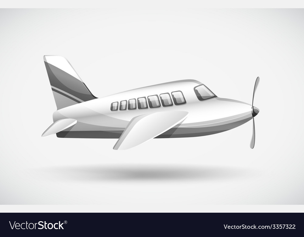A passenger plane vector | Price: 1 Credit (USD $1)