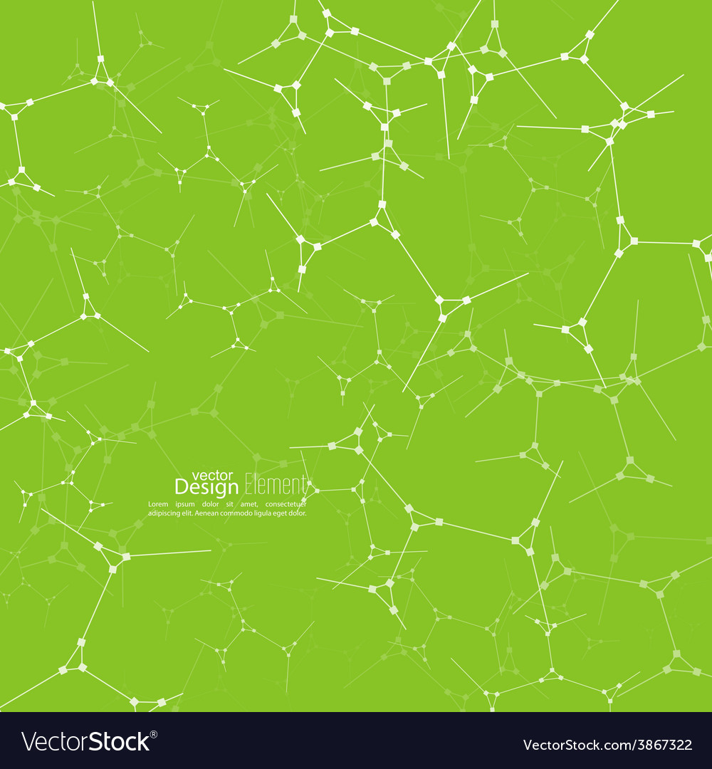 Abstract background with dna molecule structure vector | Price: 1 Credit (USD $1)