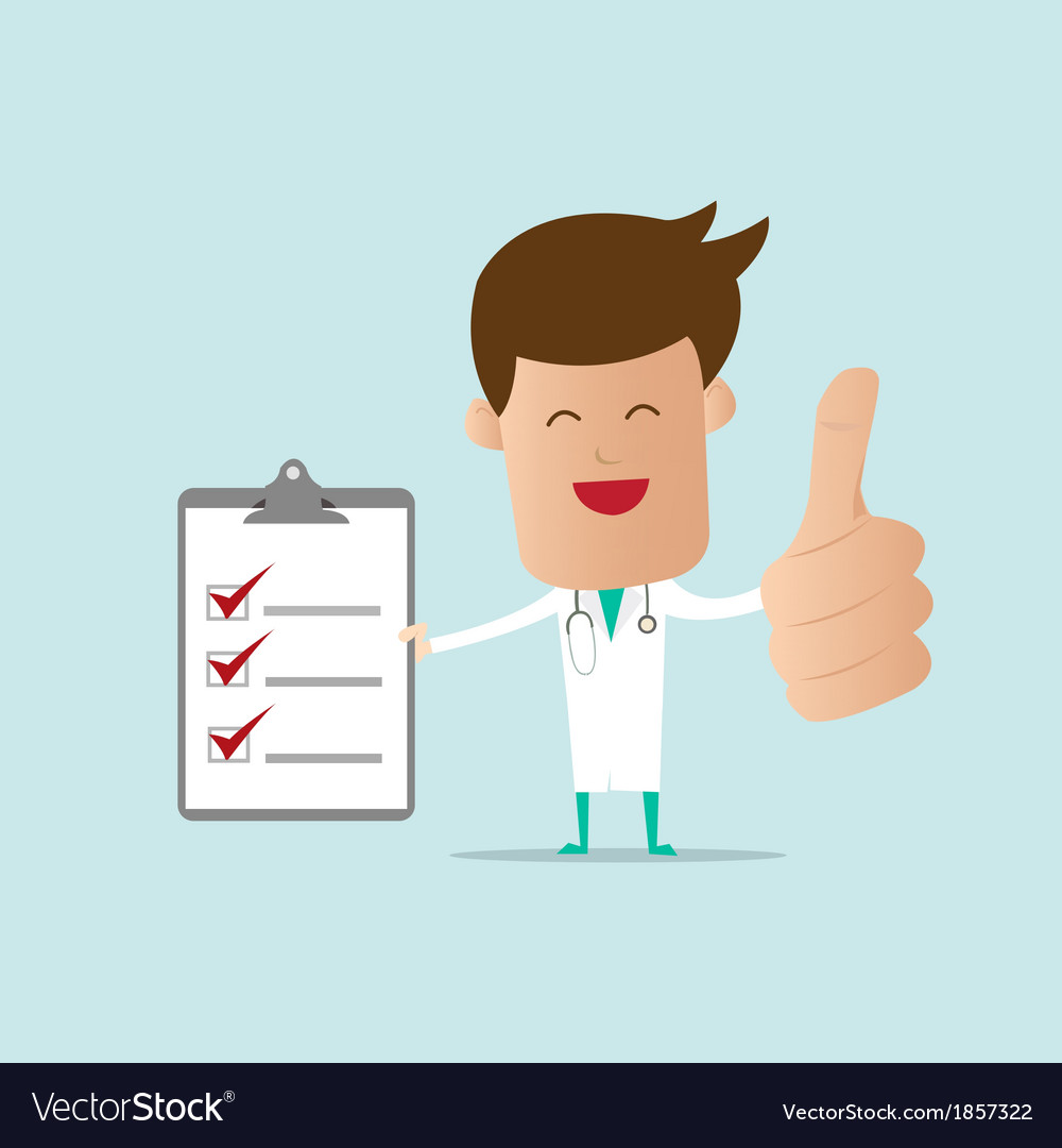 Doctor with checklist note vector | Price: 1 Credit (USD $1)